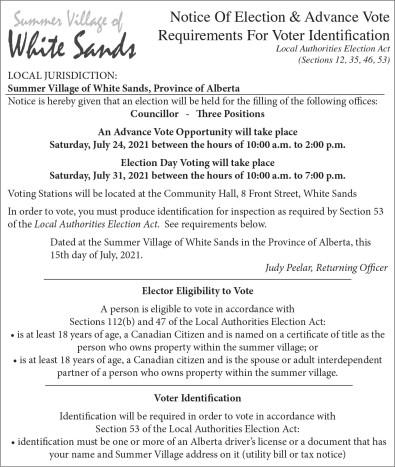 Notice Of Election & Advance Vote