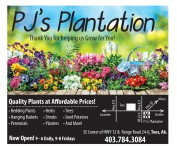 Thank You for helping PJ's Plantation Grow for You!