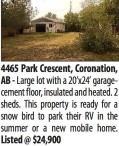 Large lot with a 20'x24' garage cement floor, insulated and heated