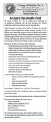 Accounts Receivable Clerk wanted