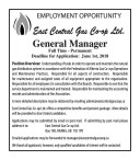 East Central Gas Co-op EMPLOYMENT OPPORTUNITY