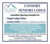 CONSORT SENIORS LODGE  Immediate Openings Available