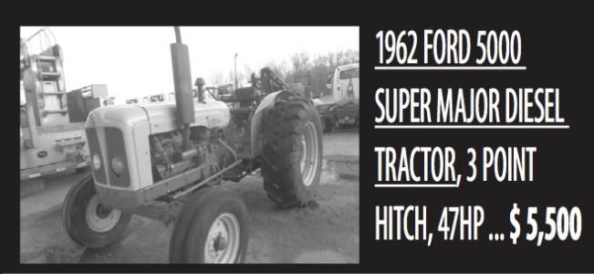 1962 Ford 5000 Super Major Diesel Tractor