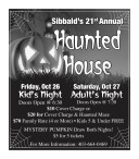 Sibbald's 21st Annual Haunted House