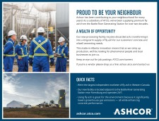 Ashcor has been contributing to your neighbourhood for many years!