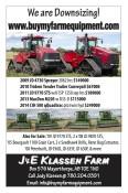 J&E Klassen Farms are Downsizing!