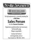 Looking for a full time Sales Person
