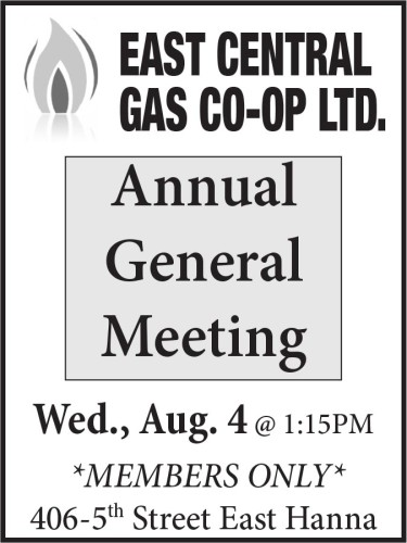 EAST CENTRAL GAS CO-OP Annual General Meeting