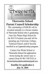 Theresetta School Parent Council Scholarship