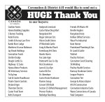 Coronation & District 4-H would like to send out a HUGE Thank You to our buyers