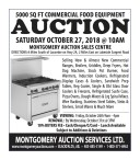 5000 SQ FT COMMERCIAL FOOD EQUIPMENT AUCTION