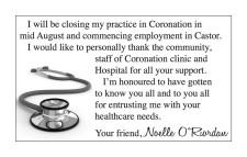 Coronation Medical Clinic Will be Closing