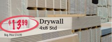 Drywall at Stettler Building Supplies