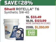 Shell ROTELLA® T6 Synthetic 5W-40