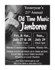 Yesteryear's 21st Annual Old Time Music Jamboree