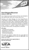 Yard Shipper/Receiver wanted