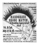 2nd annual  HARDGRASS BRONC MATCH