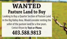 Looking to Buy a Quarter Section of Pasture Land