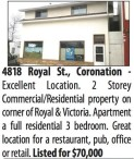2 Storey Commercial/Residential property on corner of Royal and Victoria