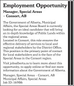 Employment Opportunity for Manager in Special Areas