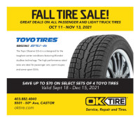 FALL TIRE SALE at OK Tire