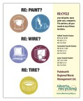 RECYCLE your old paint, spray paint cans, computers, TVs and tires, all year round
