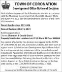 Development Office Notice of Decision