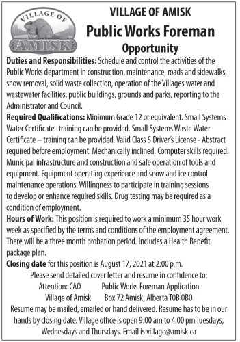 Public Works Foreman Opportunity